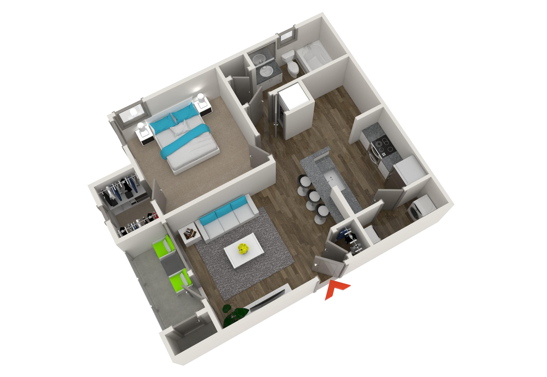 1, 2 & 3 Bedroom Apartments In Atlanta | Monroe Place Apartments