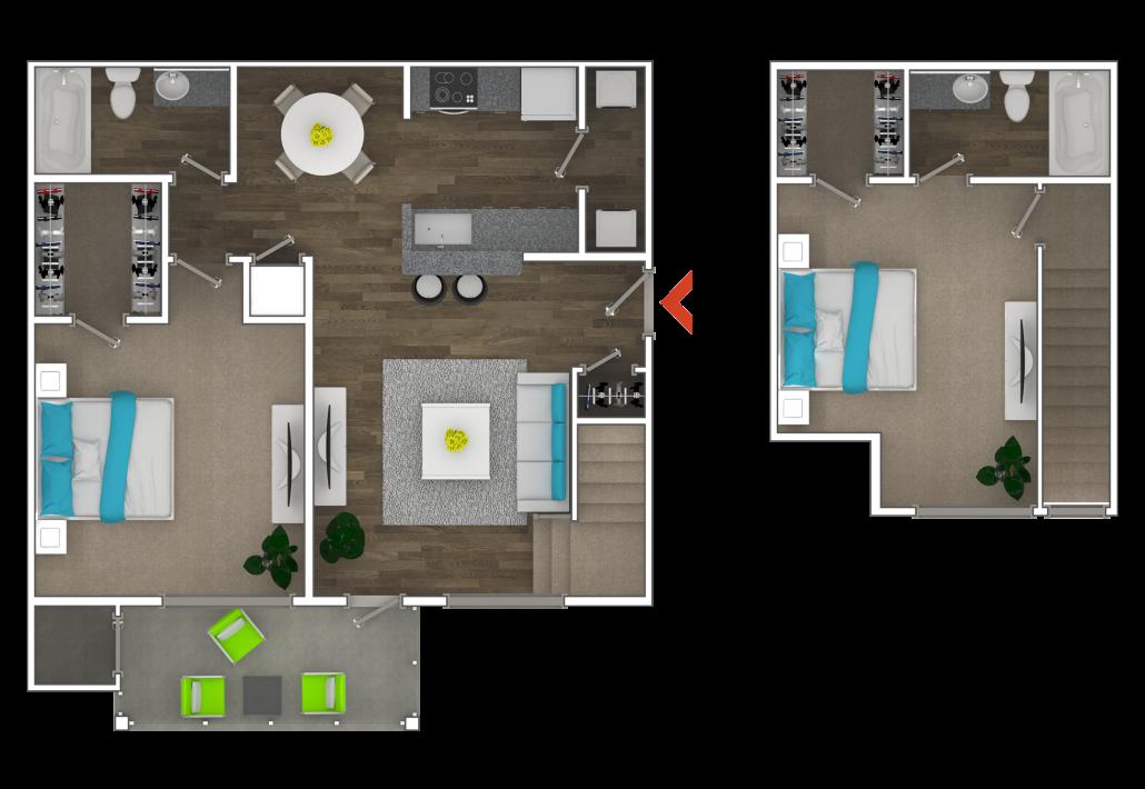 2 Bedroom Townhouse